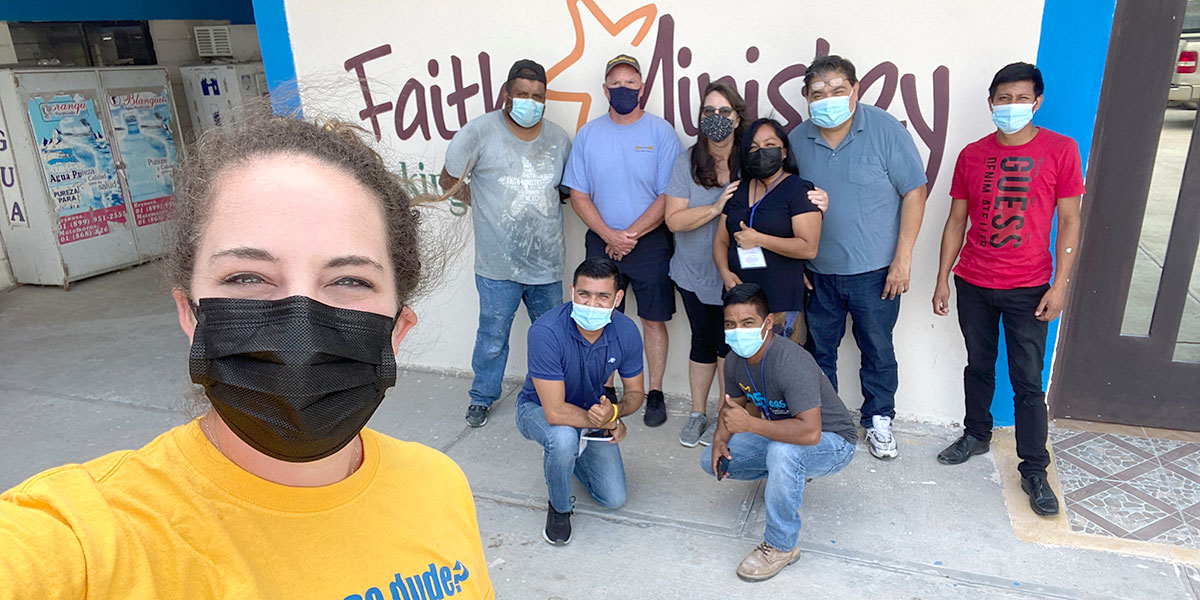 Our friends Kathy and Doug with some of our staff in Reynosa Mexico