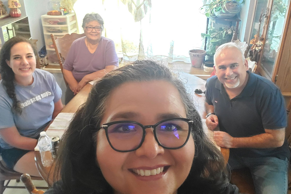 Colleen and David with Lidia and Annette in Brownsville Texas