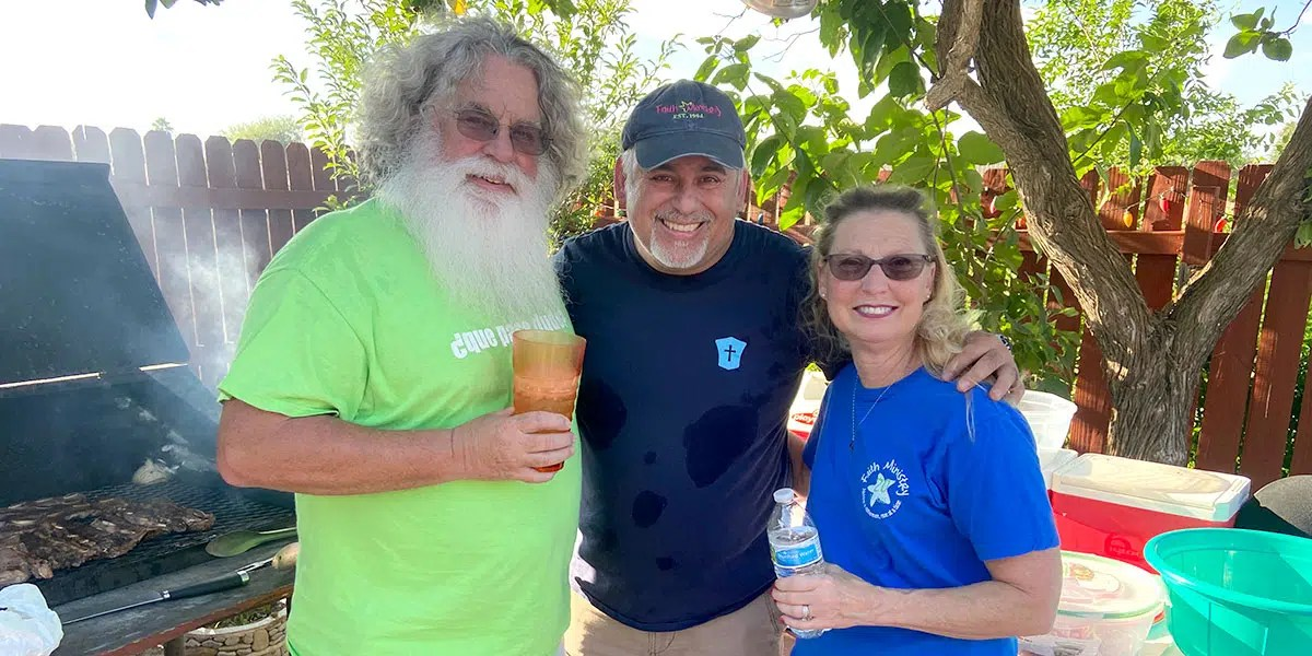 David with our friends Tom and Karla in McAllen