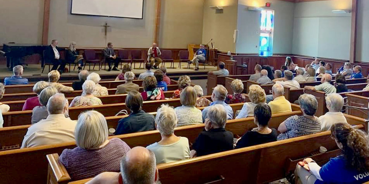 David speaking at Southport Presbyterian in Indianapolis during Missions Fest