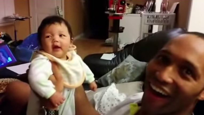 Baby Laughing First Time