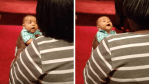 Watch How Baby Chimes In When Mom Starts Singing In Church. So Precious!