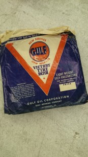 Photo of a Gulf brand Victory Tire Patch package.
