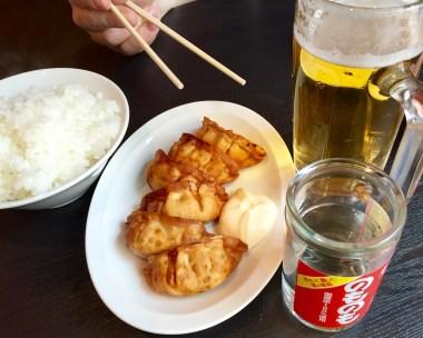 Gyoza, Beer, and Sake