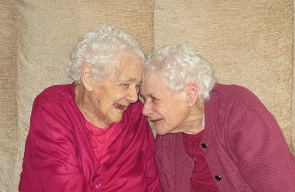 The twins at 103 years old