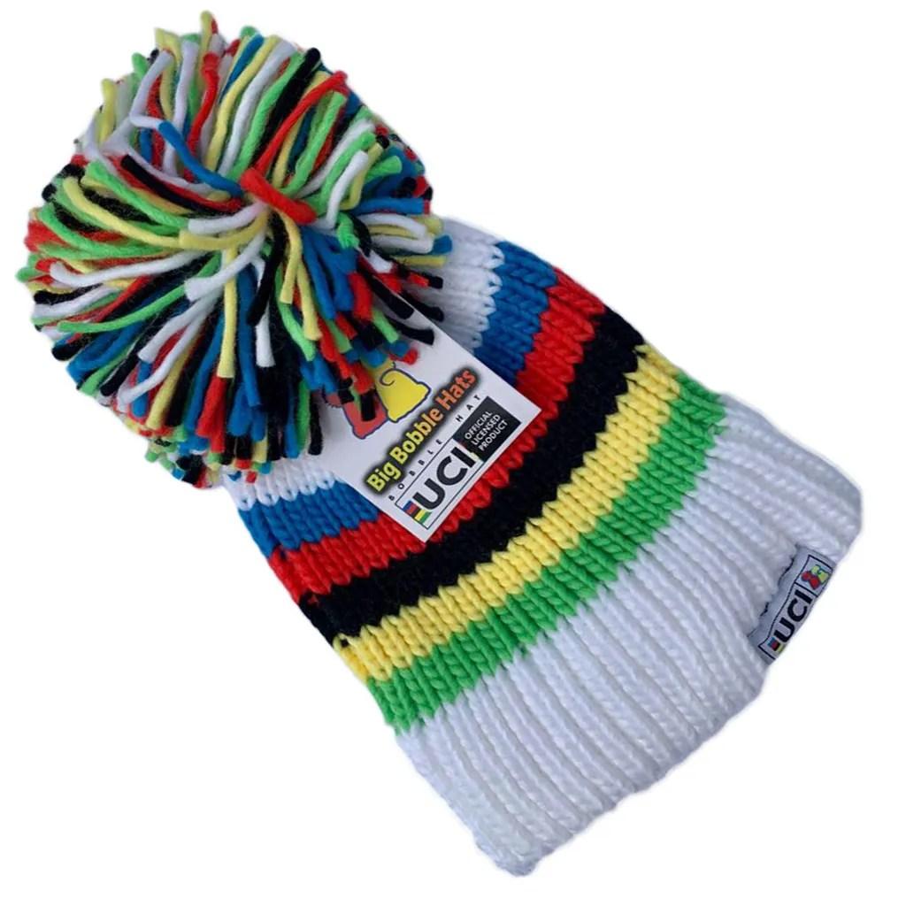 e38190ca69 UCI Rainbow Stripes Bobble Hat - Faith USA