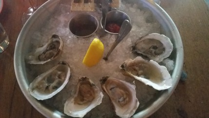 raw Chincoteague oysters at Grille 620