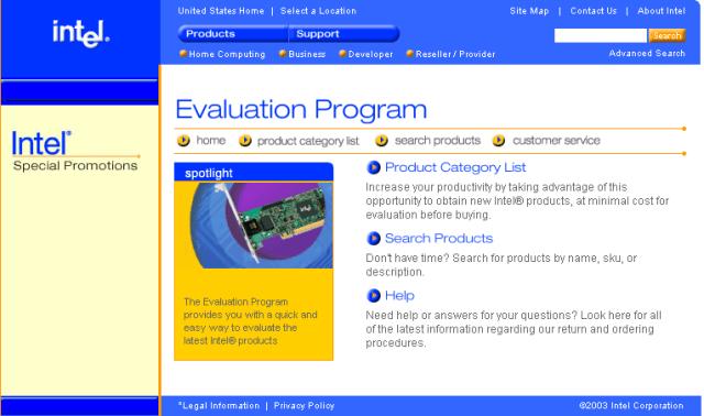 Intel Evaluation Program