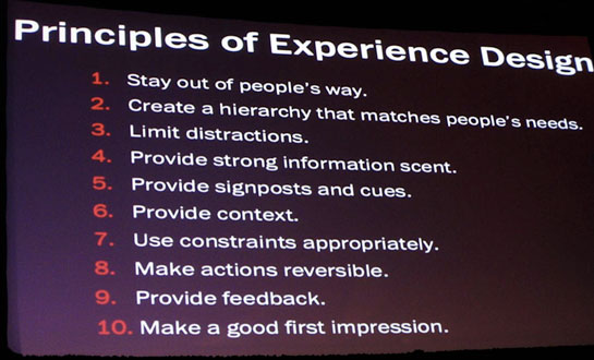 Principles of Experience Design