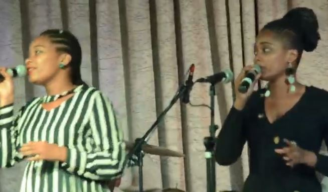 Buhle And Her Twin Singing On Worship Night