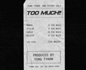 Yung Tyran, Too Much, Priddy Ugly, mp3, download, datafilehost, toxicwap, fakaza