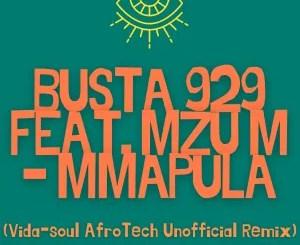 Busta 929 – Mmapula (Vida-soul AfroTech Unofficial Remix) ft. Mzu M