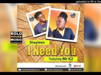 Shayleen I Need You Ft. Mr K2 Mp3 Download Fakaza Music