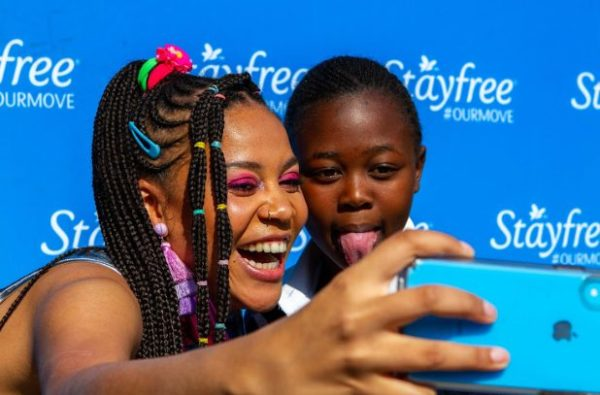 Watch: School Girls Excited at Sho Madjozi's Visit on Menstrual Hygiene Day