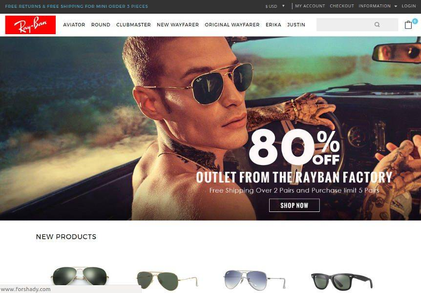 Captura forshady.com tienda online falsa