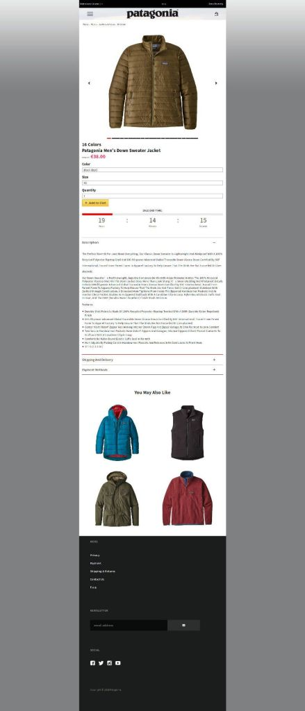 Winterclothestore.club Product Fake Online Store Of Patagonia Products