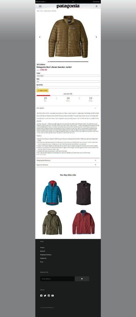 Winterclothestore.club Producto Tienda Online Falsa Con Productos De Patagonia