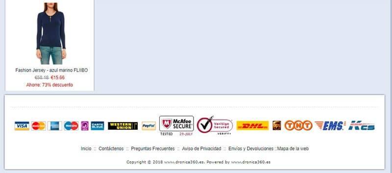 Dronica360.es Tienda Falsa Online Multiproducto