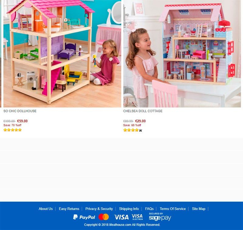 Lifeathouse.com Fake Online Shop Toys