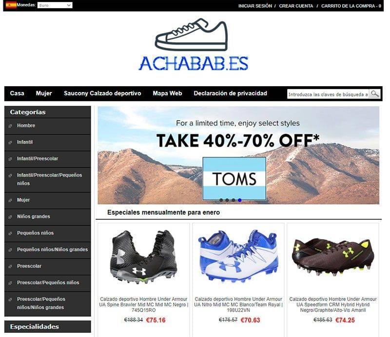 Achabab.es Tienda Falsa Calzado Skechers