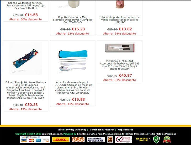 Calderashuesca.es Fake Online Shop Kitchen Supplies