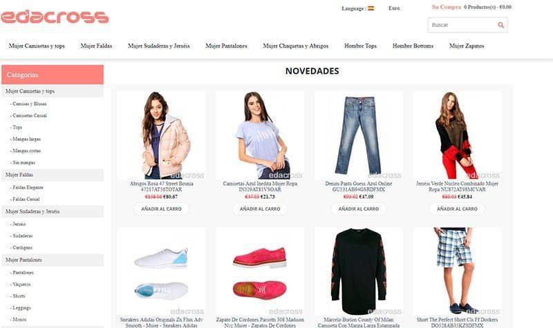 edacross.org tienda falsa online ropa
