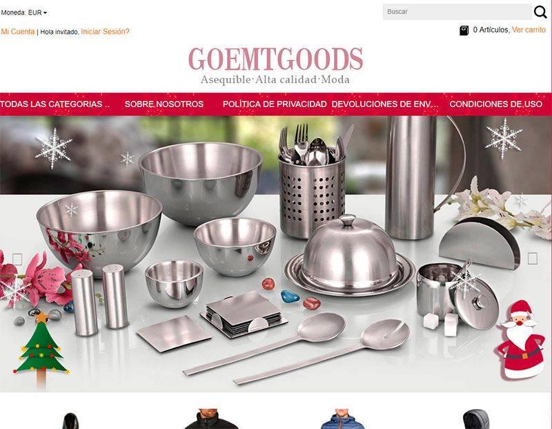 Goemtgoods.com Tienda Falsa Online Multiproductos