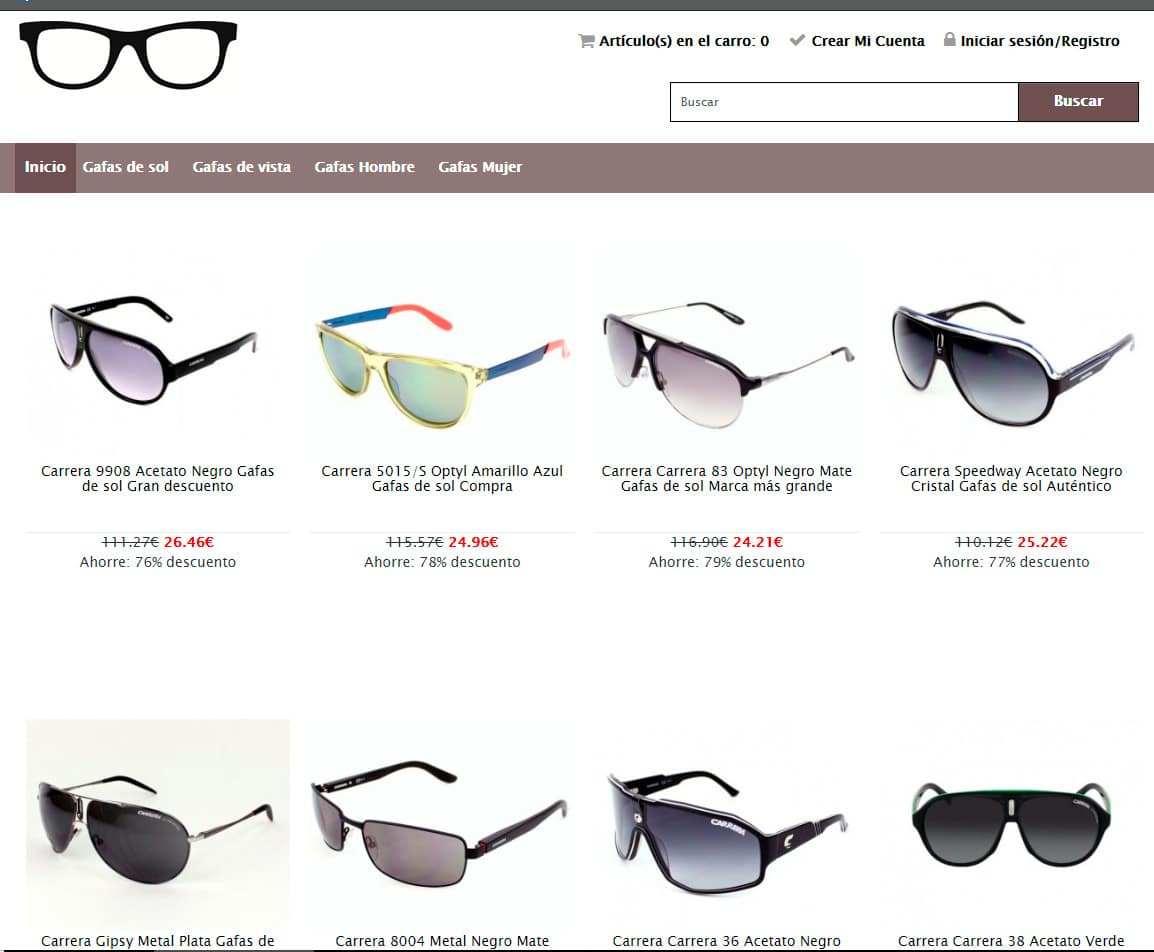 Carauto.es Tienda Falsa Online Gafas Sol Carrera Diesel