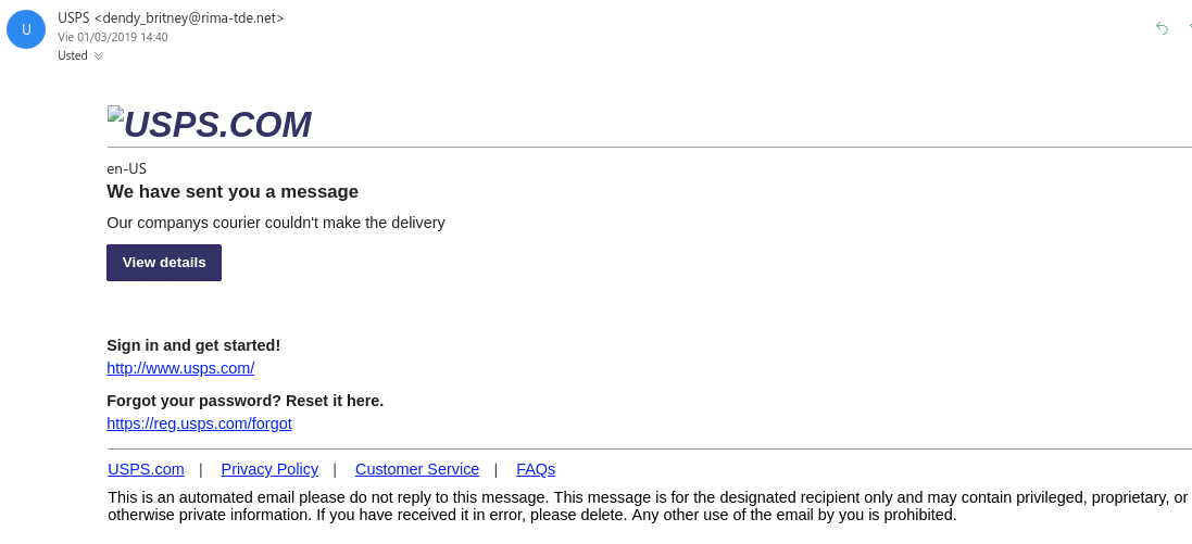 Email Phishing Ups Ticket