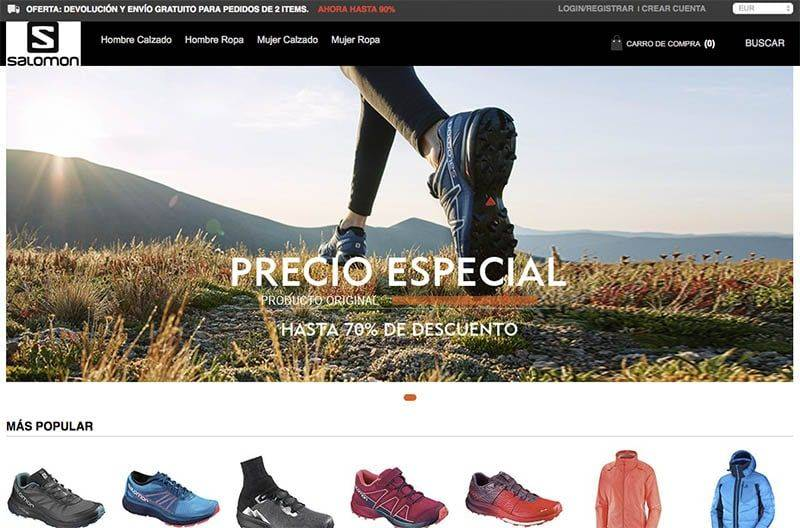 salomonuzapato.com tienda falsa online Salomon