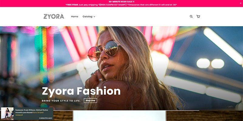 Zyora.co Tienda Falsa Online Moda Maquillaje