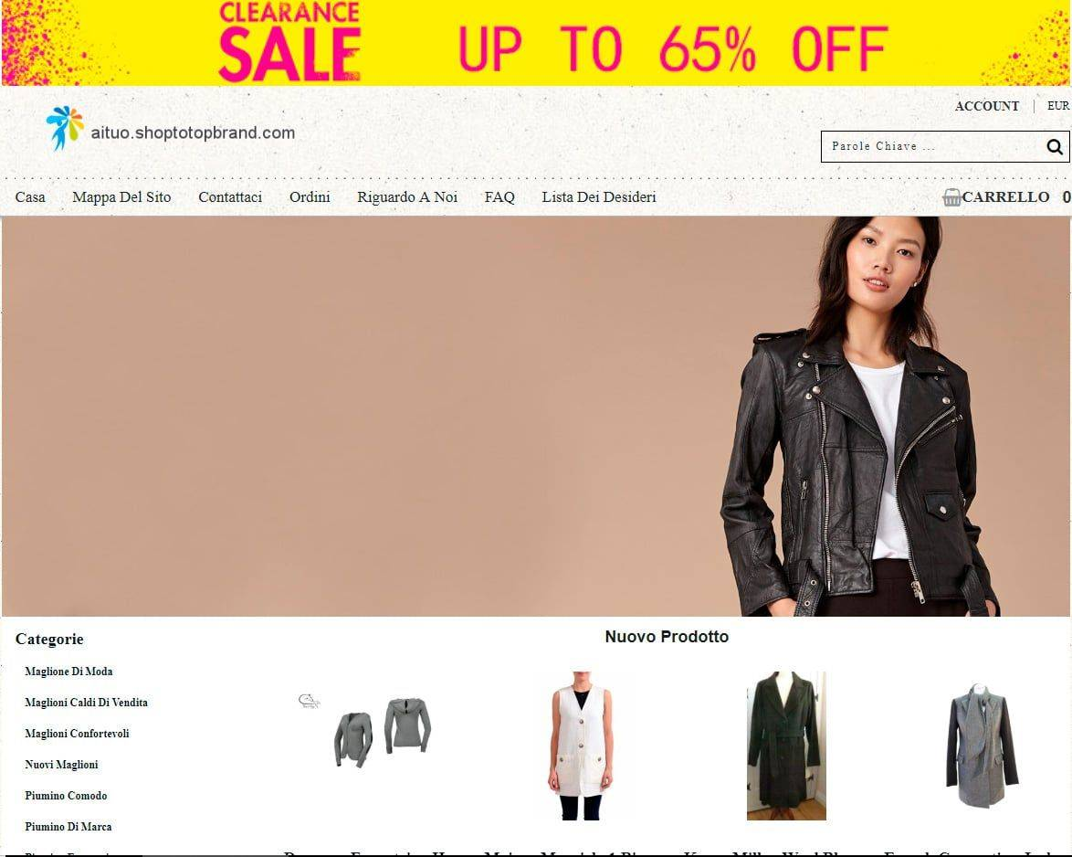 Aituo.shoptotopbrand.com Tienda Falsa Online Moda