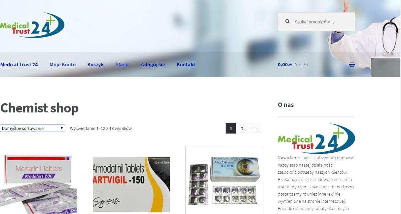 Medicaltrust24.com Tienda Falsa Online Medicamentos