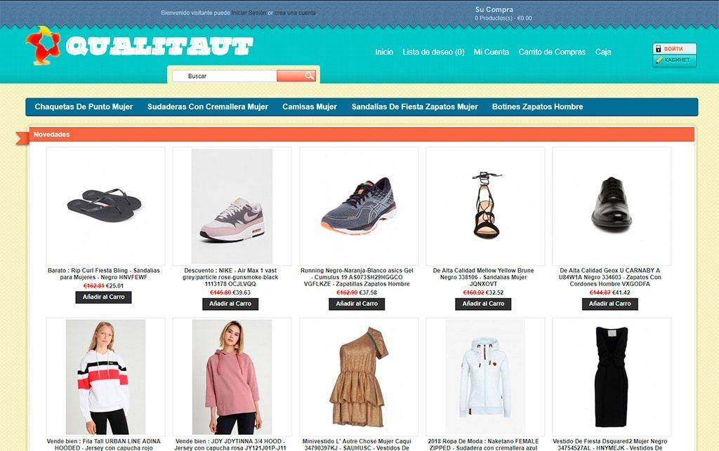 Qualitauto.es Tienda Falsa Online Moda