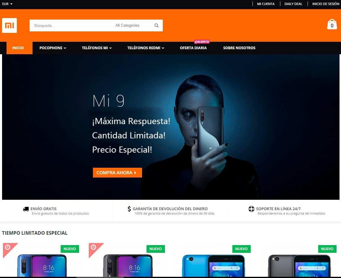 Vemovil.com Tienda Online Falsa Xiaomi