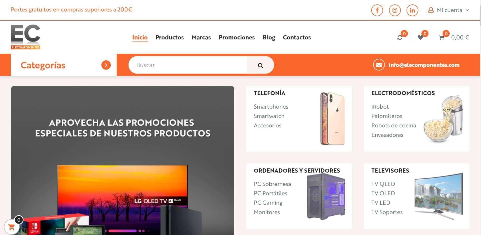 Elecomponentes.com Tienda Falsa Online Electronica