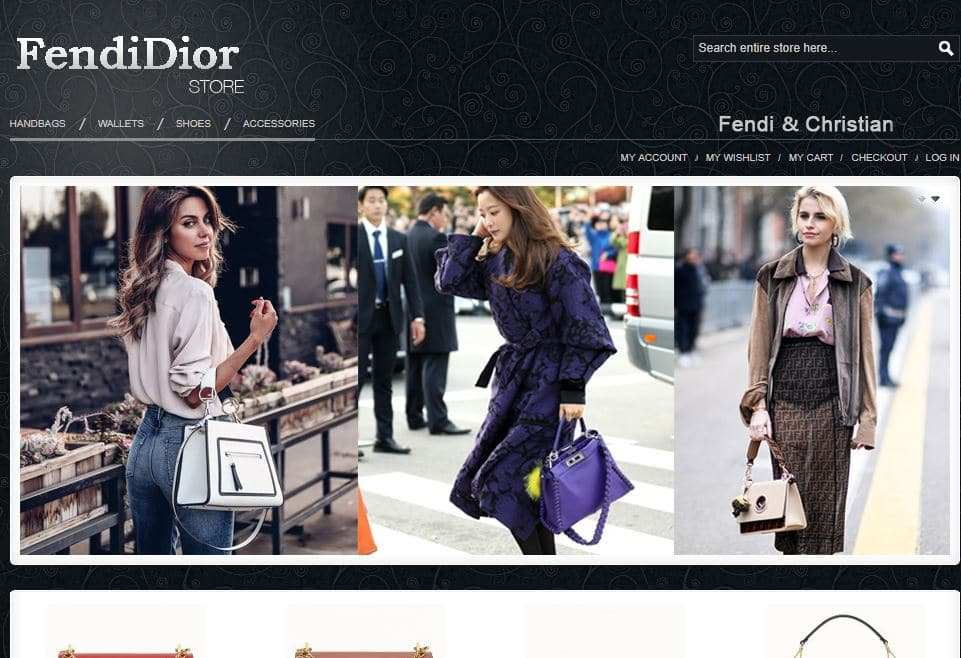 Fendidiorbags.com Tienda Falsa Online Moda