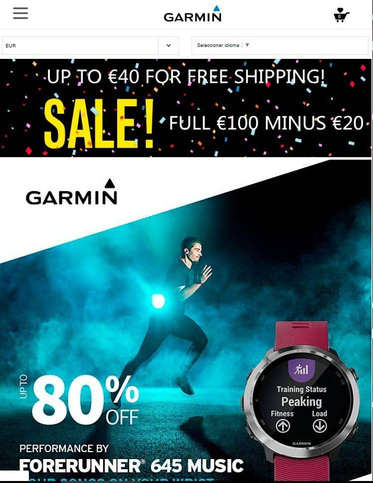Garwatch.club Tienda Falsa Online Garmin