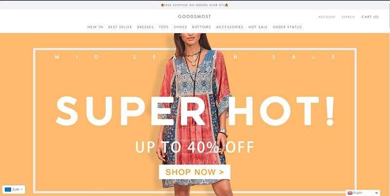 Goodsmost.com Tienda Falsa Online Moda