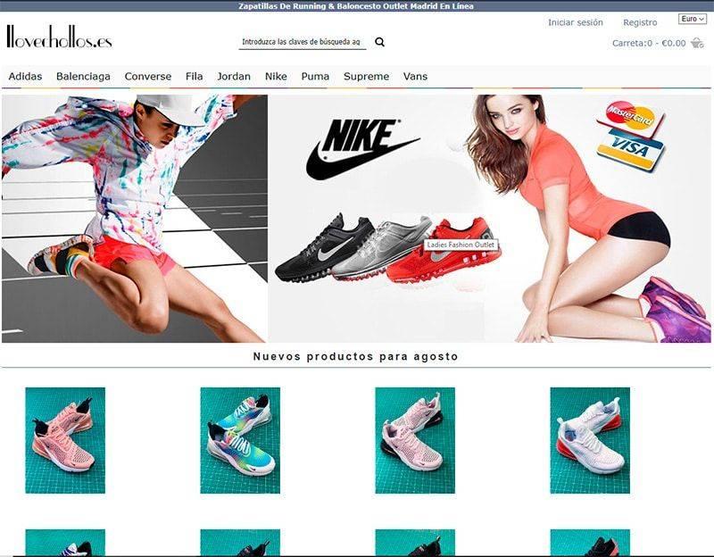 Ilovechollos.es Tienda Falsa Online Zapatillas