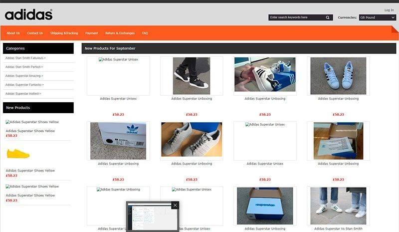 Aoriginal.co.uk Tienda Falsa Online Adidas