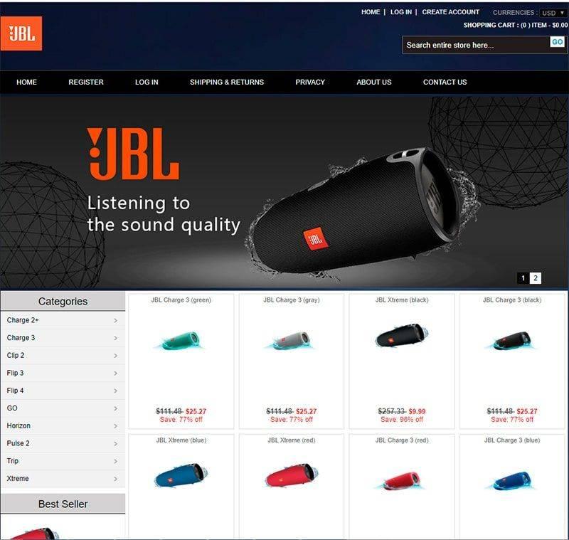 Sunes.shop Tienda Online Falsa Jbl