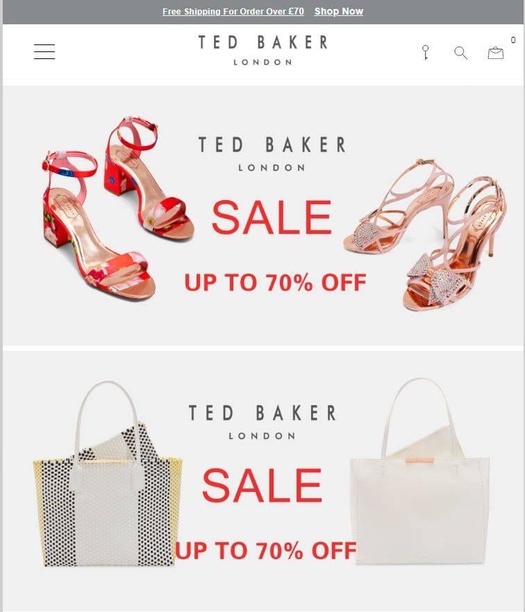 Tedbakerlondon.top Tienda Online Falsa Ted Baker