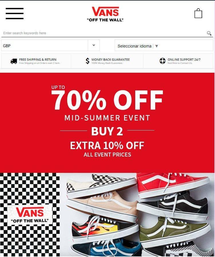 Vansshoes.shop Tienda Online Falsa Calzado Vans