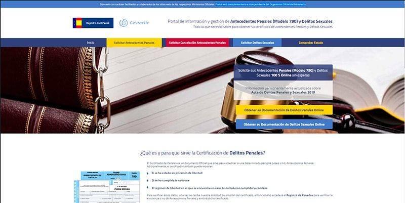 Registrocivilpenal.com Tramitacion Antecedentes Penales