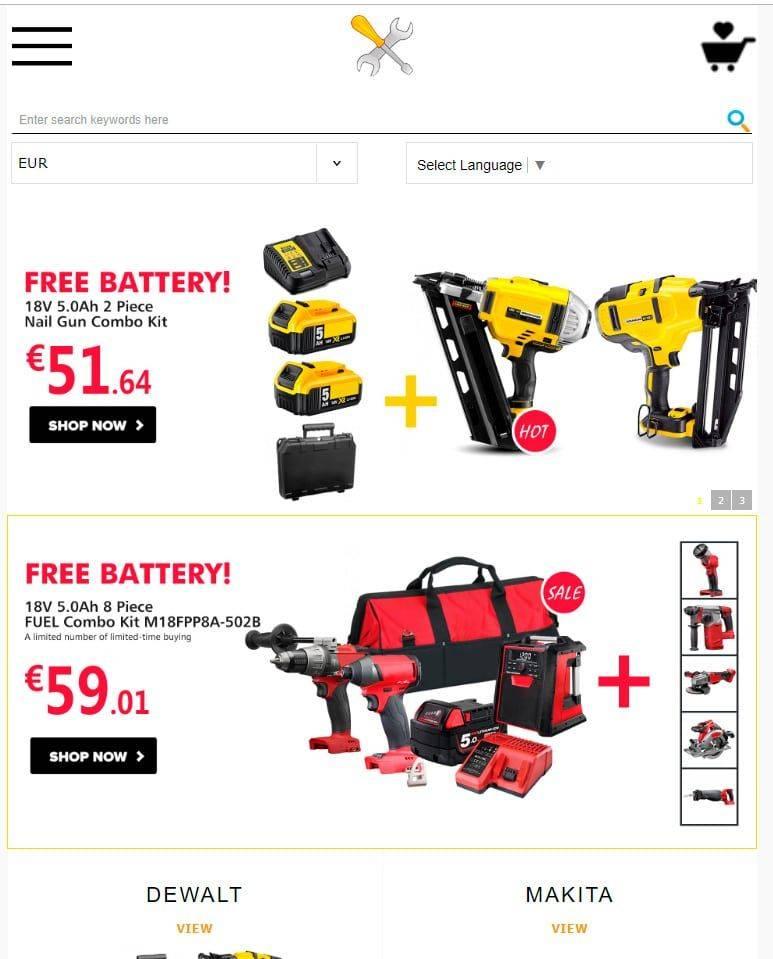 Tools4.top Tienda Online Falsa Herramientas