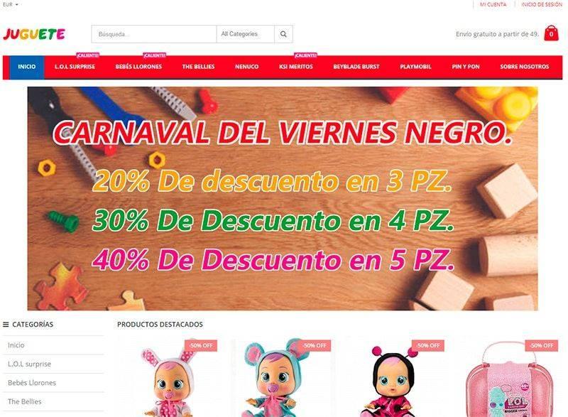 Jugueteu.com Tienda Online Falsa Juguetes