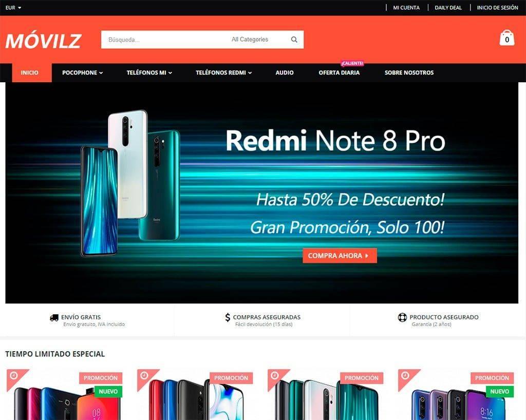 Movilz.com Tienda Online Falsa Smartphones Xiaomi