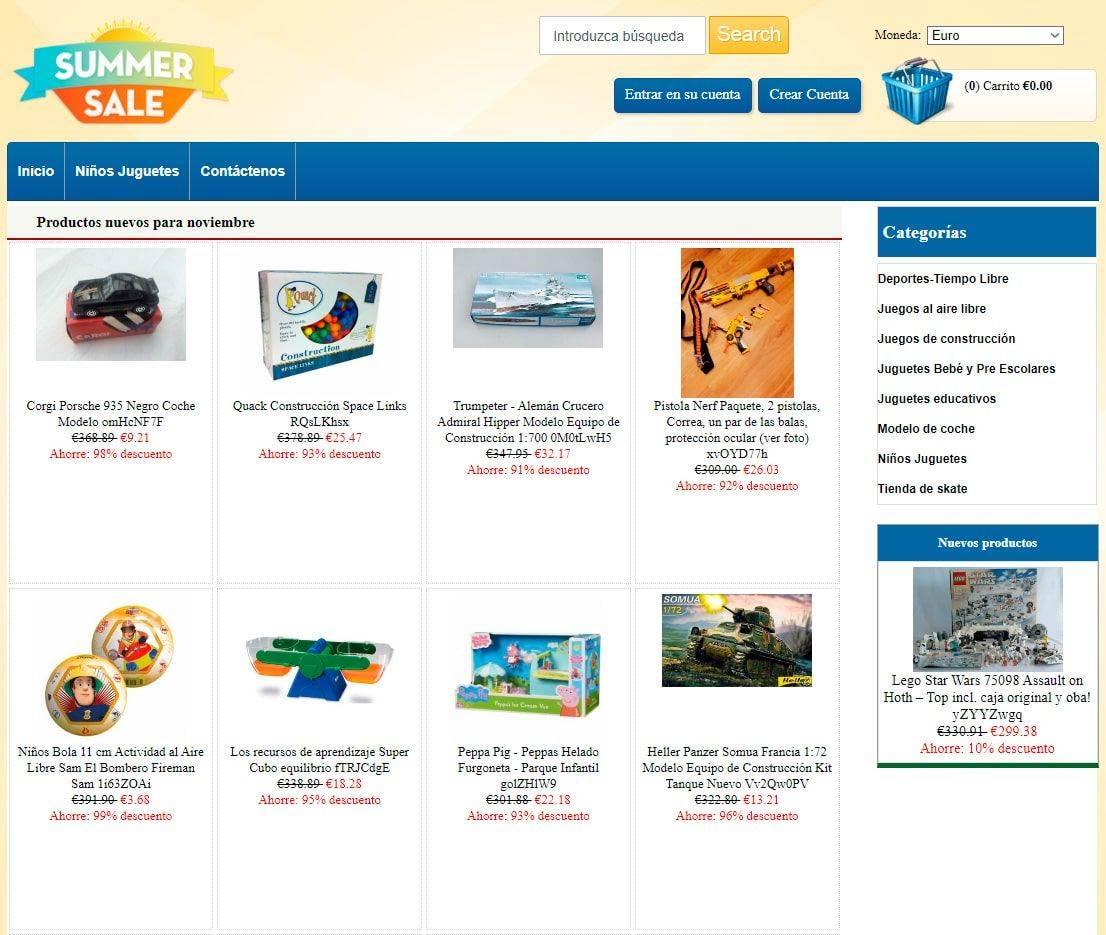Skifc.com.co Tienda Online Falsa Juguetes Modelismo