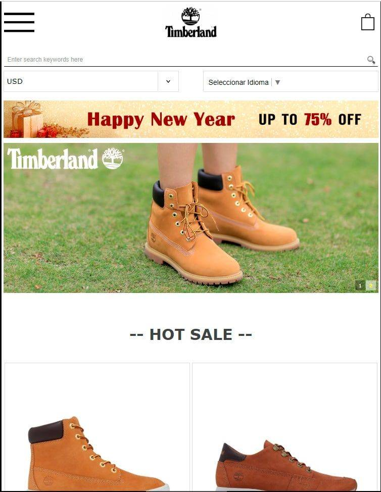 Timed.site Tienda Online Falsa Timberland